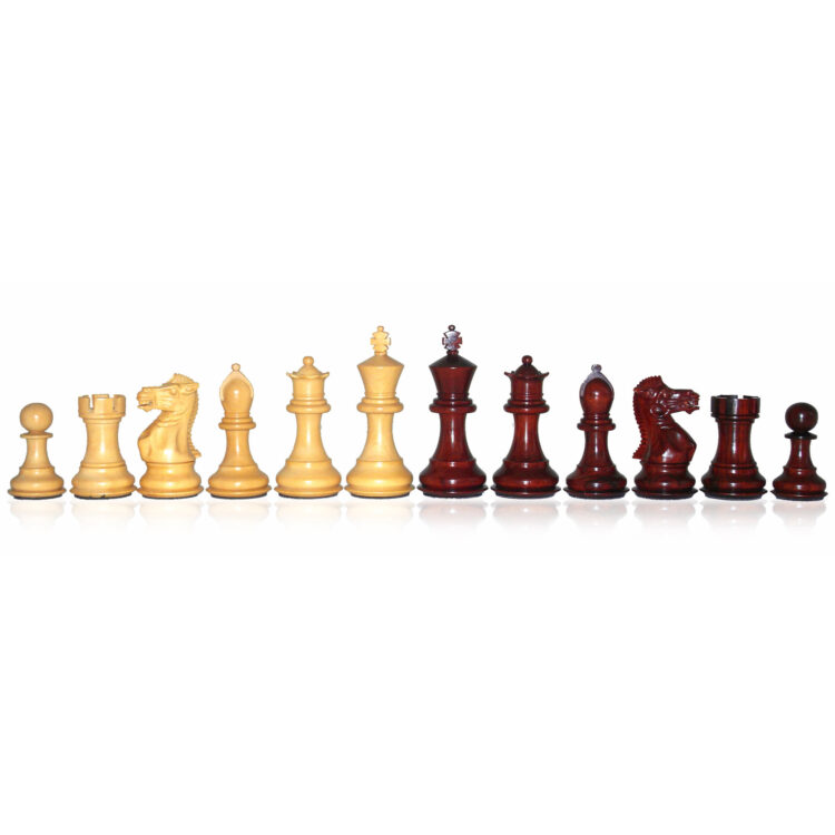Precious wood chess-men
