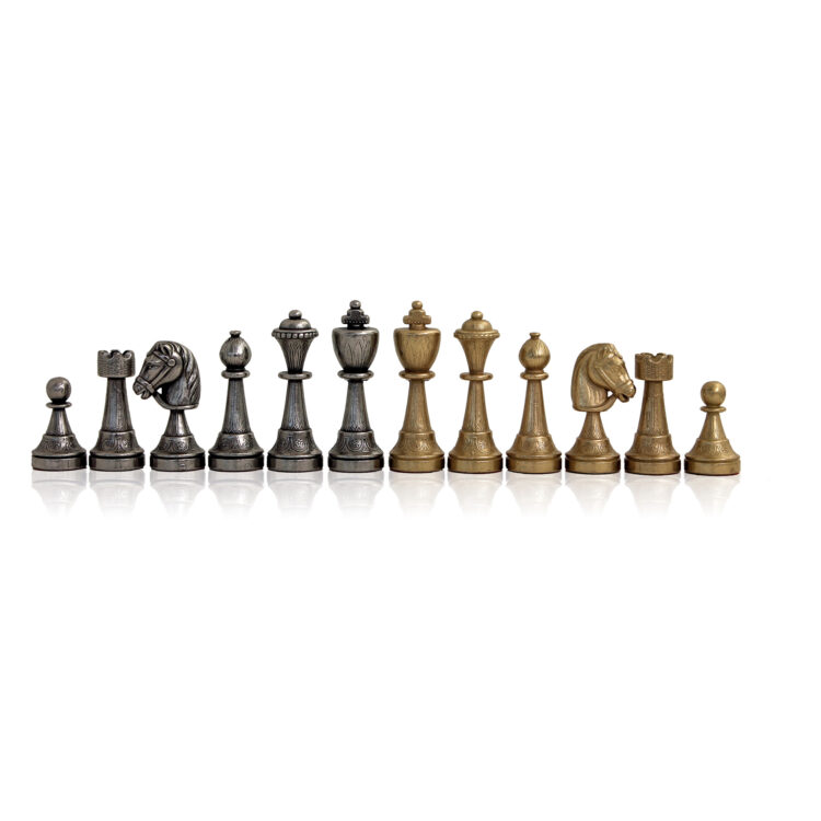 Metal chess-men