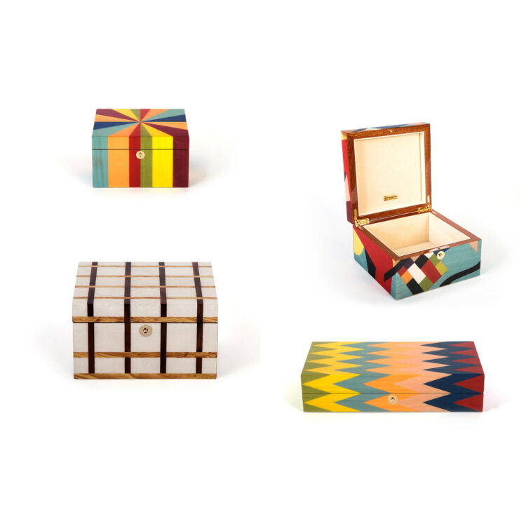 Luxury inlaid boxes