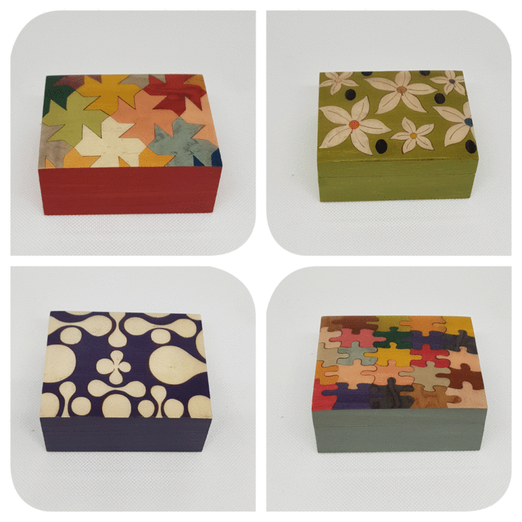 "Small Boxes 3,9""x3,1""x1,5"""